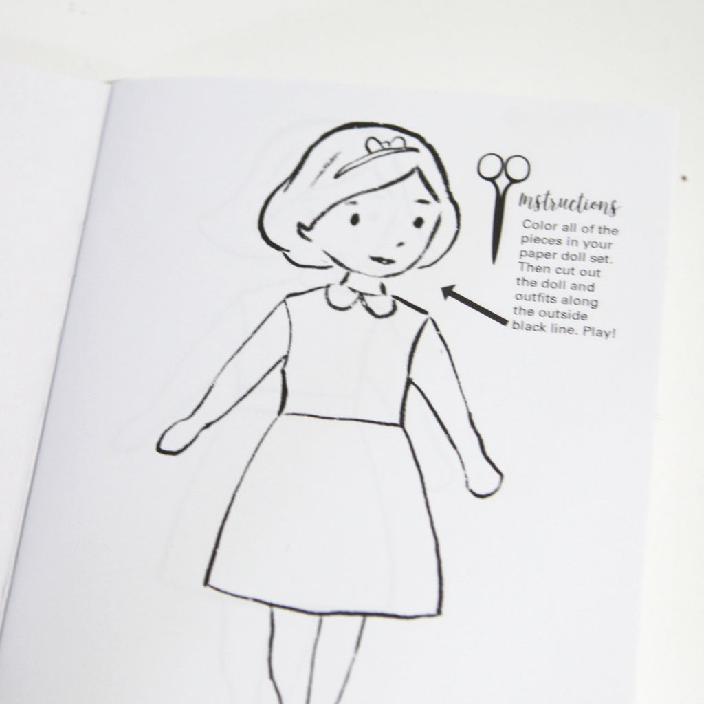 charlotte paper dolls coloring book minilou