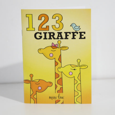 1-2-3 Giraffe Coloring Book - FINAL SALE