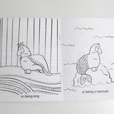 Llama Dreams of Funny Things Coloring Book - FINAL SALE