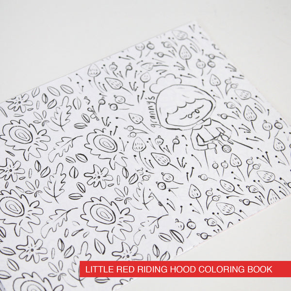 Alice and Red Riding Hood Coloring Books