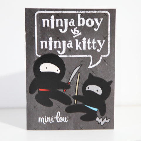 Ninja Boy vs. Ninja Kitty Coloring Book