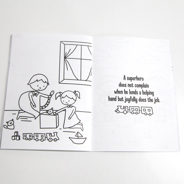 Superhero Rules Coloring Book