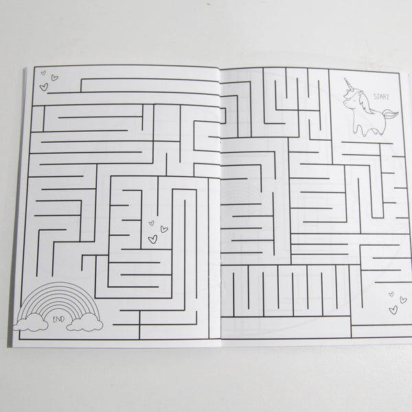 Unicorn & Rainbow Mazes Book