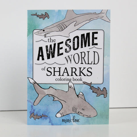 The Awesome World of Sharks 5 x 7 Coloring Book