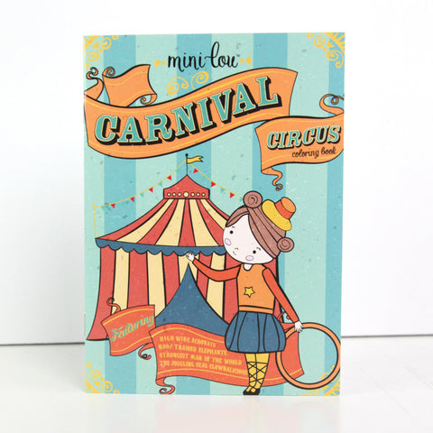 Carnival Circus 5 x 7 Coloring Book - FINAL SALE
