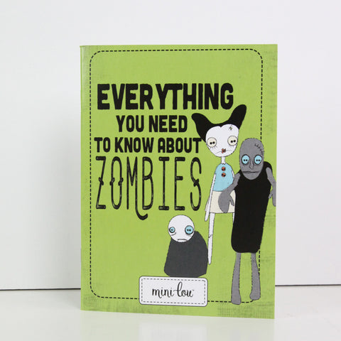 Everything You Need to Know About Zombies 5 x 7 Coloring Book