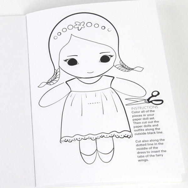 Fairy Paper Dolls Activity Book