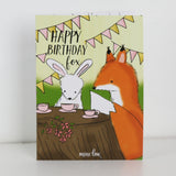 Happy Birthday Fox Coloring Book