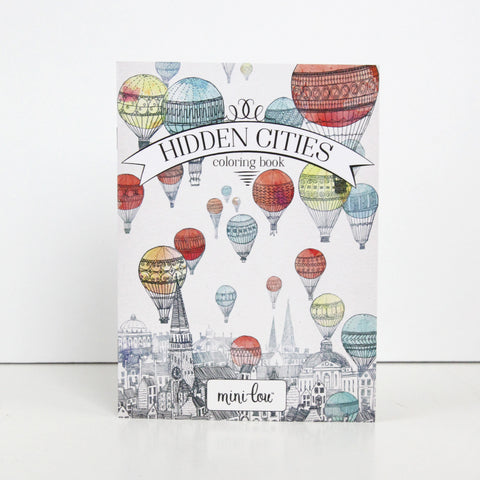 Hidden Cities Coloring Book 5 x 7 Coloring Book