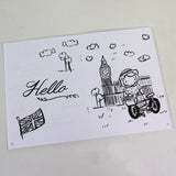 Hello Around the World 5 x 7 Coloring Book