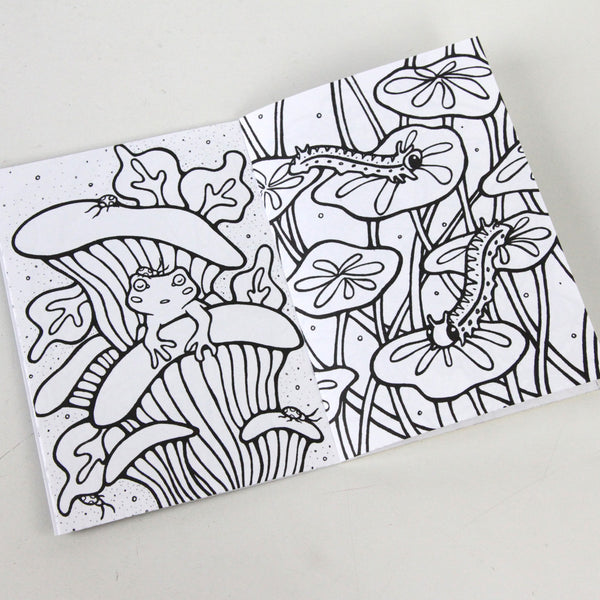 In The Leaves 5 x 7 Coloring Book
