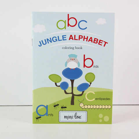 Jungle Alphabet Coloring Book 5 x 7 Coloring Book