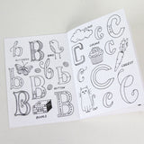 The Little Alphabet Book of Hand-Lettered Type 5 x 7 Coloring Book