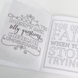 The Little Coloring Book of Quotes