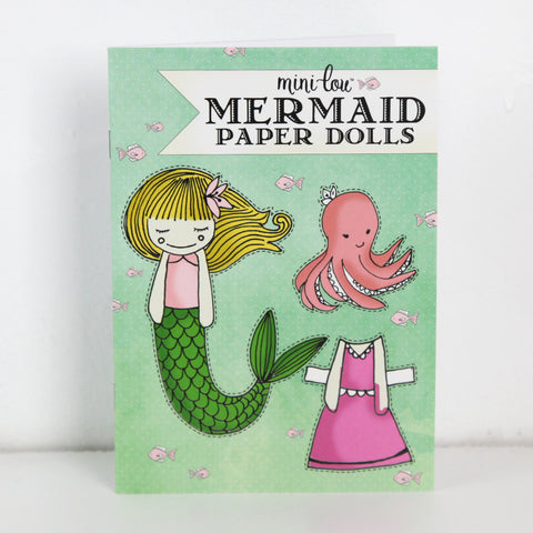 Mermaid Paper Dolls Activity Book
