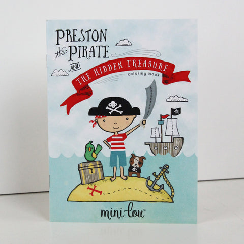 Preston the Pirate Coloring Book 5 x 7 Coloring Book