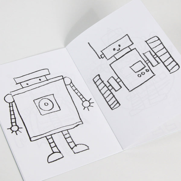 Robot Friends Coloring Book