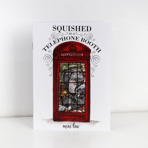 Squished in a Telephone Booth Coloring Book