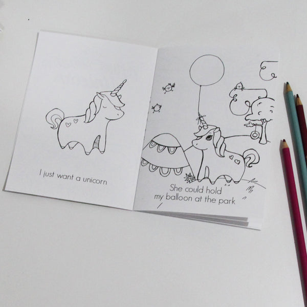I Just Want a Unicorn Coloring Book