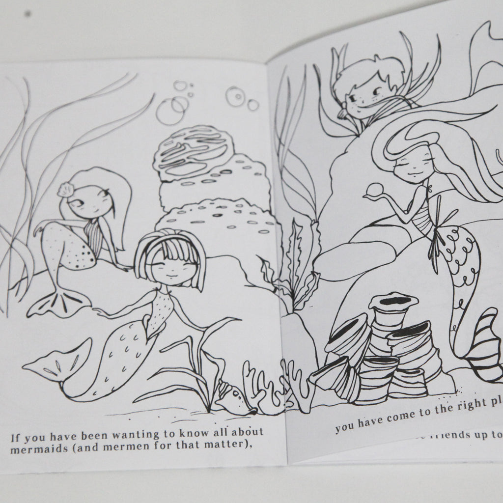 All About Mermaid Coloring Book | MiniLou