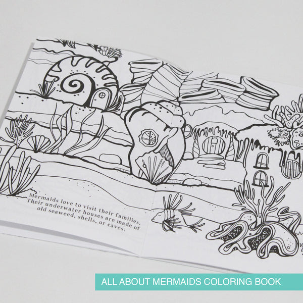 All About Mermaid Coloring Book