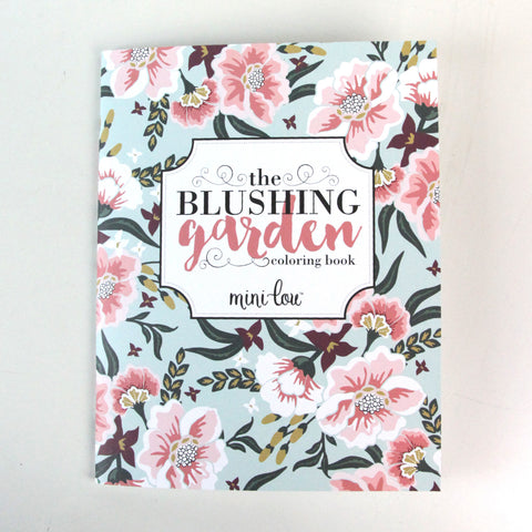 Blushing Garden  8.5 x 11 Coloring Book