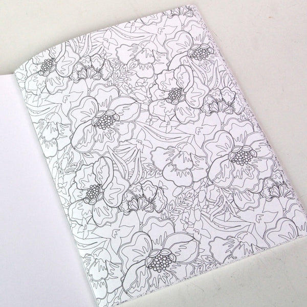 Blushing Garden  8.5 x 11 Coloring Book - FINAL SALE
