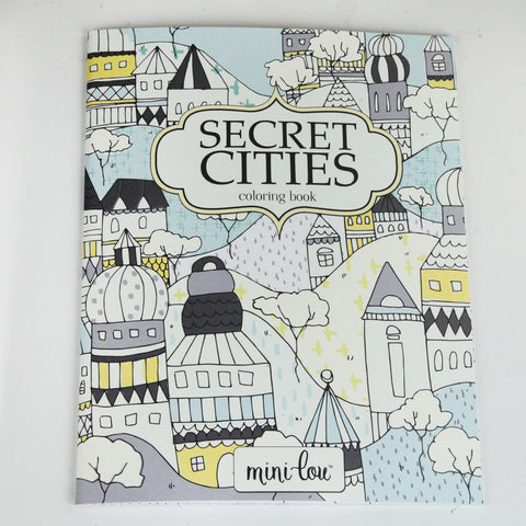 Secret Cities 8.5 x 11 Coloring Book