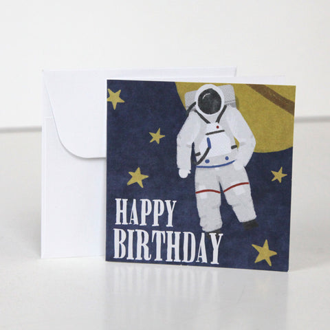 Blast Off  3.5 x 3.5 Gift Enclosure Card and Envelope  - FINAL SALE