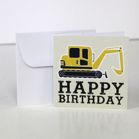 Digger 3.5 x 3.5 Gift Enclosure Card and Envelope - FINAL SALE
