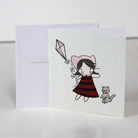 Fly a Kite 3.5 x 3.5 Gift Enclosure Card and Envelope