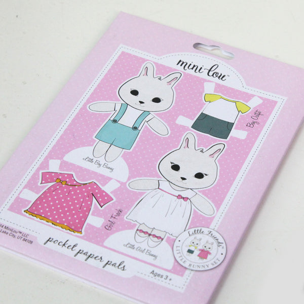 Bunny Paper Doll and Bunny Necklace Gift Set