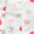 Cozy Baby Pajamas with Feet - Large Dot, Birds, A Lovely Day