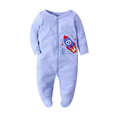 Cozy Baby Pajamas with Feet - Rocket
