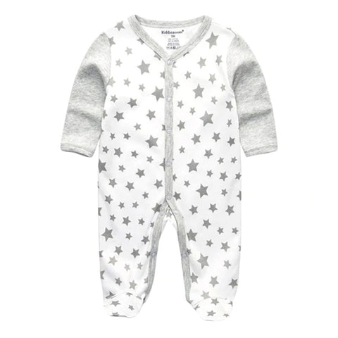Cozy Baby Pajamas with Feet - Stars