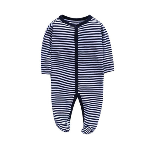 Cozy Baby Pajamas with Feet - Stripe