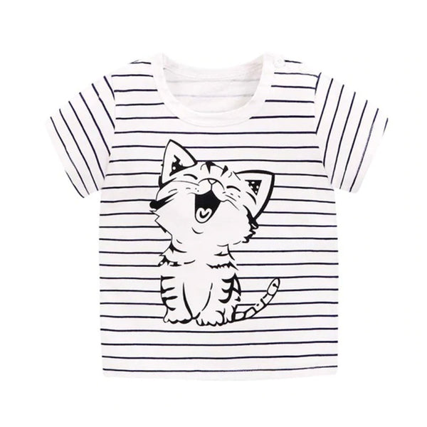 Girl Short Sleeve Tops - Kitty