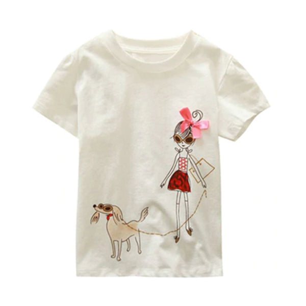 Girl Short Sleeve Tops - Little Girl