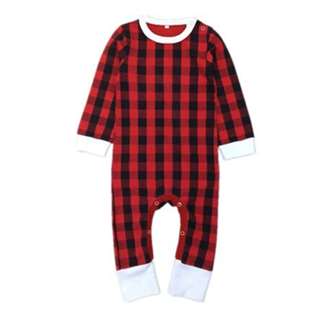 Christmas Baby Pajamas - Plaid