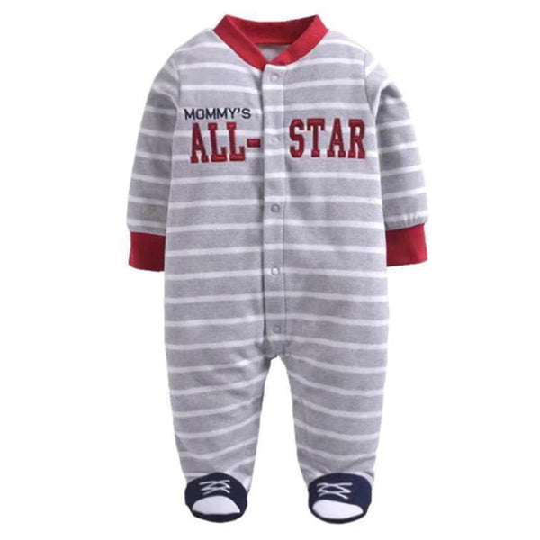 Softest Fleece Baby Pajamas with Feet - All Star
