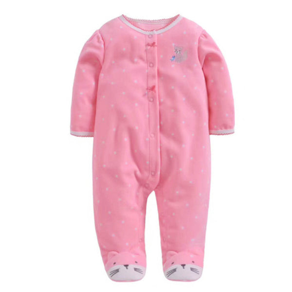 Softest Fleece Baby Pajamas with Feet - Pink