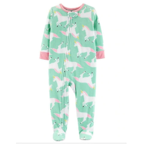 Softest Fleece Baby Pajamas with Feet - Unicorn