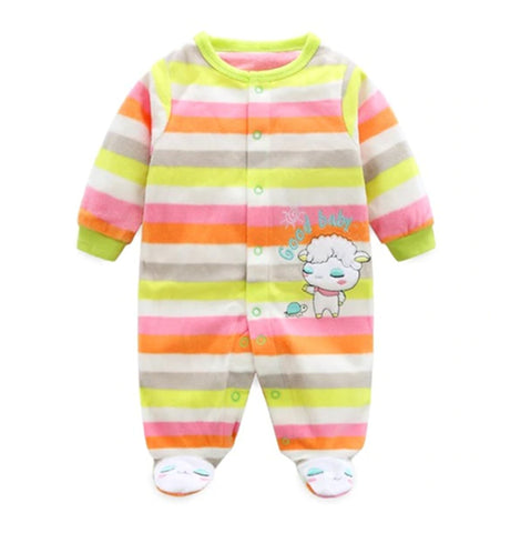 Softest Fleece Baby Pajamas with Feet - Lamb