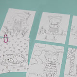 DIY MiniKit 3 in. x 4in. Coloring Pages | Digital Printable | Free