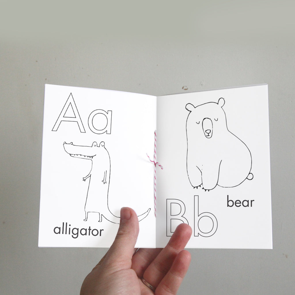 picture relating to Printable Alphabet Book identified as Alphabet Coloring Guide Electronic Printable