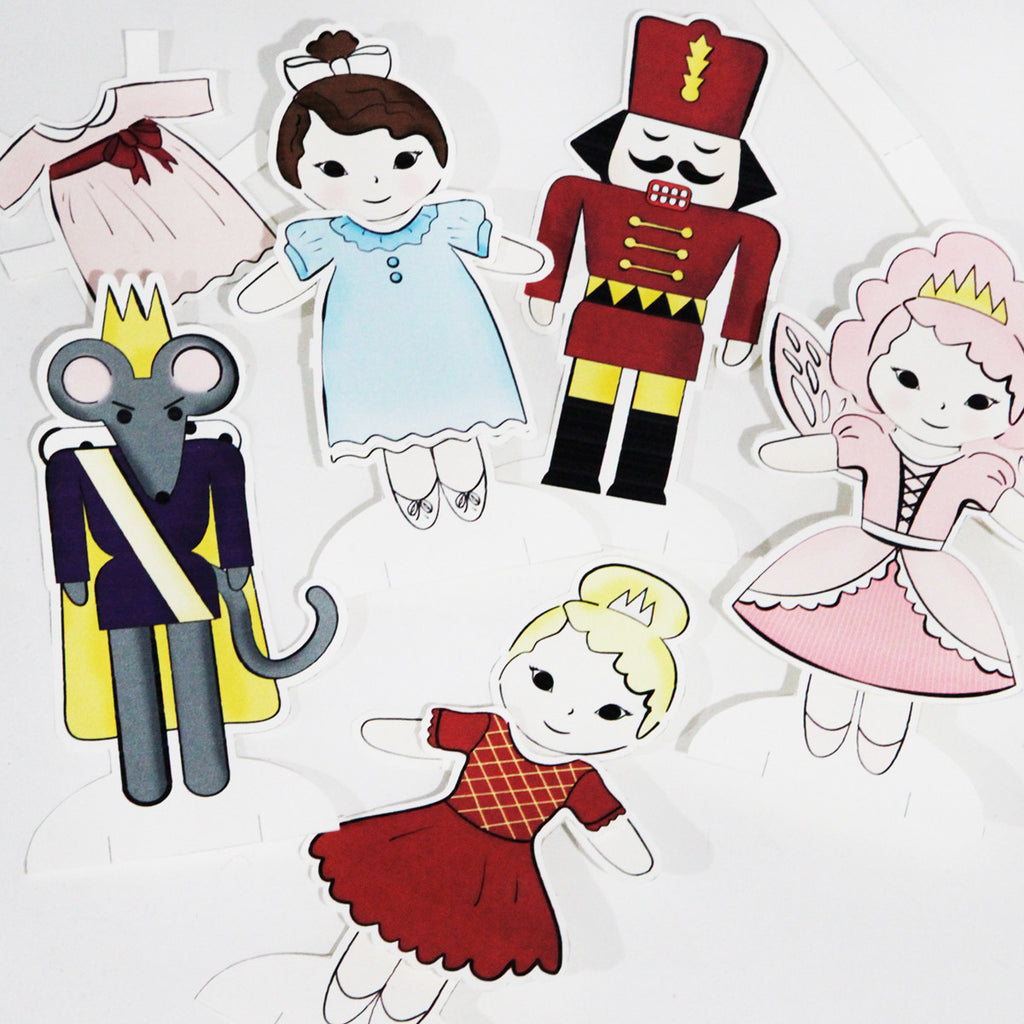 photograph regarding Paper Dolls to Printable named Nutcracker Paper Dolls Electronic Printable