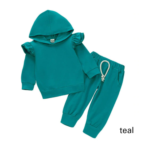 Hooded Baby Outfits - Teal