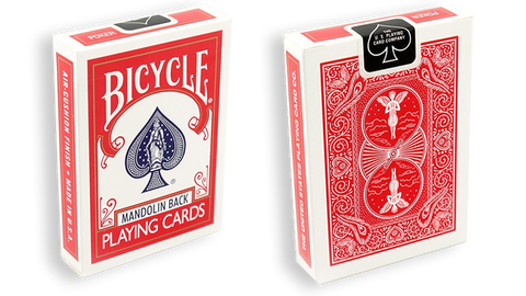 Bicycle Playing Cards 809 Mandolin Red by USPCC - Playing Cards