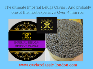 Our newest Beluga caviar. It's stunning, it's delicious and it's not cheap!