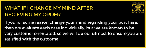 If you change your mind about the purchase, we are going to evaluate each case and do our utmost to ensure  you are satisfied with the outcome.